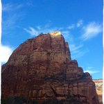 Angel's Landing - the golden top was where I stood!