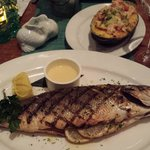 Branzino fish served whole at the Passion Fish in Reston, VA