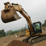 digging with backhoe