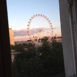 View of the London eye from the room