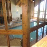 looking at indoor pool from our balcony