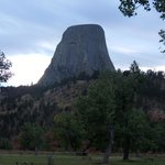 View of Devil,s tower from Campground