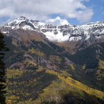 Snow Capped Peaks and Golden Aspen