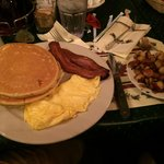 Pancake, eggs, bacon and sausage... for dinner!