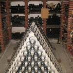 Private wine cellar seen on tour