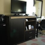 "32"" flat-screen TV and desk"