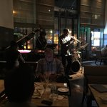 Live jazz in the hotel lobby restaurant. Awesome!