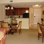Dining space & kitchen 2 bed suite
