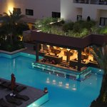 Opera Plaza Marrakesh - view of pool and Moroccan Restaurant.