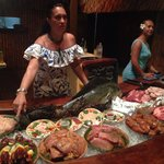 First select your appetizer and entree from the freshly caught fish boat