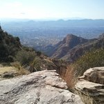 Looking Back at Tucson on Finger Rock Trail