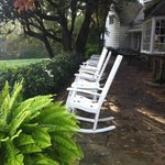 rocking chairs on main house patio