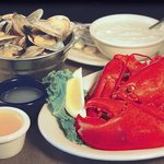 Lobster, steamers and chowder - delicious!