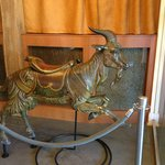 Antique Dentzel Carousel Horse in Lobby