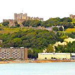 Yellow building on the right is the Premier Inn with Dover Castle overlooking it