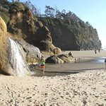 waterfall at Hug Pt Beach park