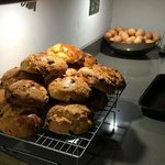 fresh, homemade scones by Clare...delish!