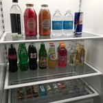 Beverages in room fridge 2
