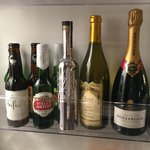 Beverages in room fridge 1