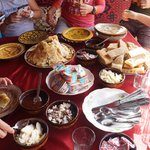 delicious berber breakfast prepared by ahmed family