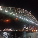 Evening under the Harbour Bridge - short walk downhill from The Vibe