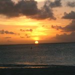 Sunset from the beach at Royal West Indies resort