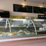 Selection of quiches, pastries and other tasty delights