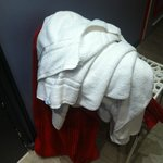 Found the towels at the same place where I left them in the morning