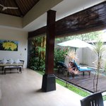 2bed villa outdoor area with pool
