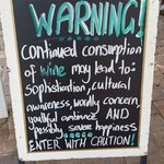 Great little sign outside the cellar door