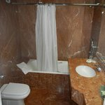 All marble tile bathroom