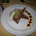 Chocolate Pate-nice decor eh?  Would have been better if I hadn't tried the bread pudding first!