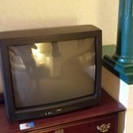 Old heavy tube TV