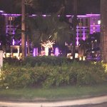 Front of the hotel at night
