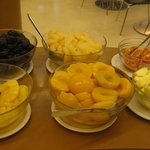 Portion of the ample breakfast buffet