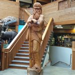 carving at the Kittery Trading Post