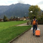 Walking to Walter's B&B from Interlaken OST train station