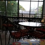 """Breakfast room, attractive and """"NICE"""" view of Paper Mill"""