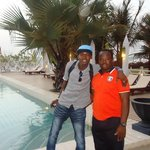 With Biran, he was very helpful during our stay in The Gambia