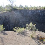 One of the craters.