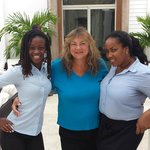 Wendy and Claudia - Cheerful hostesses