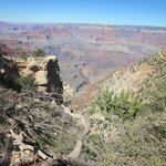 View walking down South Kaibab Trail