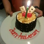 Staff sending Anniversary Cake to your room