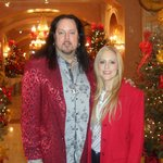 My wife and I heading out for Christmas Eve dinner at R'evolution.
