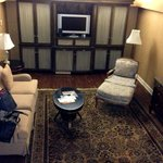 The 1st floor living area of our suite.