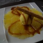 dessert(glace a l ananas a tomber)