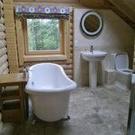 Upstairs bathroom, overlooking woodland at the back