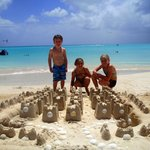the kids sandcastle