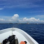 Boat ride out the dive site