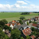 Village north of Amsterdam with view to IJsselmeer lake.